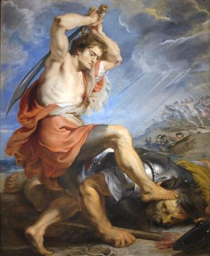 david et goliath par rubens