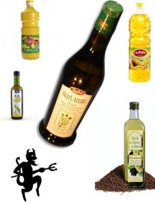 huile végétales de raisins, tournesol, maïs, soja, carthame
