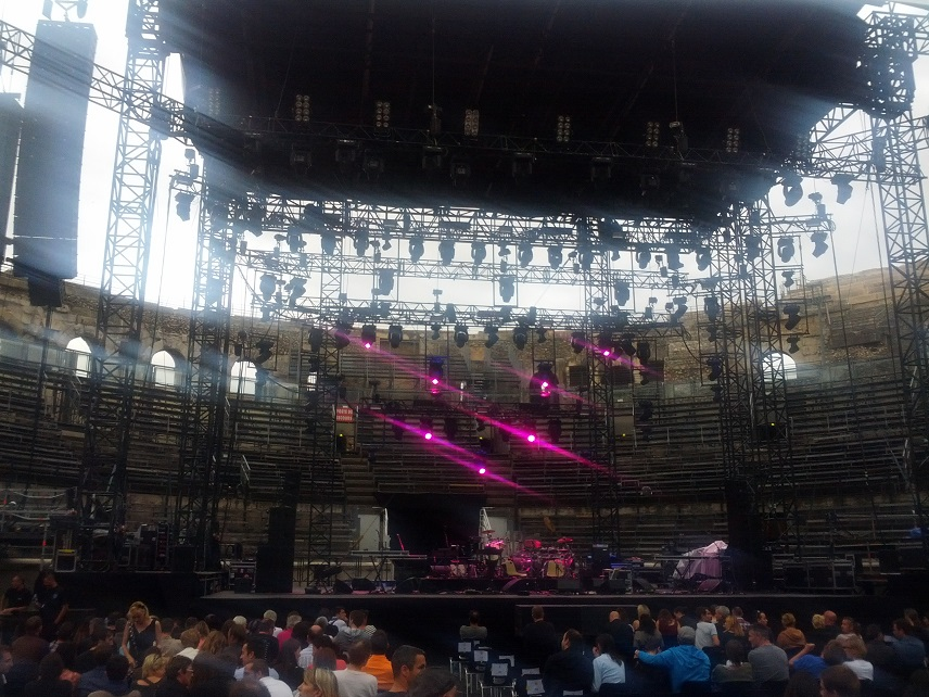 La scène...avant le début du concert