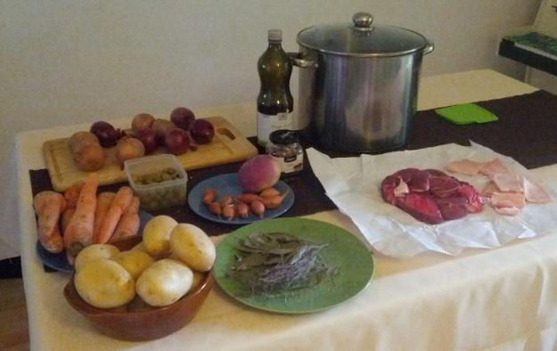 Une photo de groupe avant cuisson